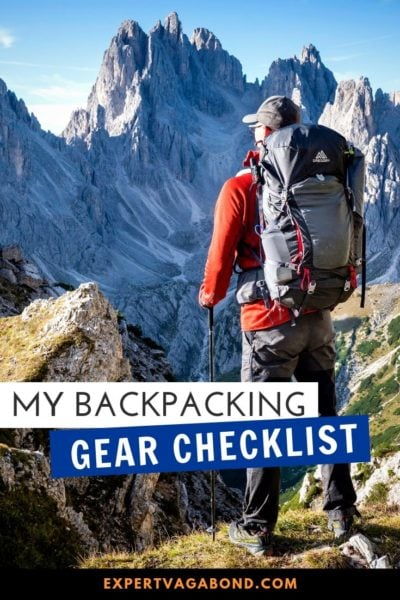 My backpacking gear checklist: Everything you need to pack for a trek. #Backpacking #Gear #Checklist