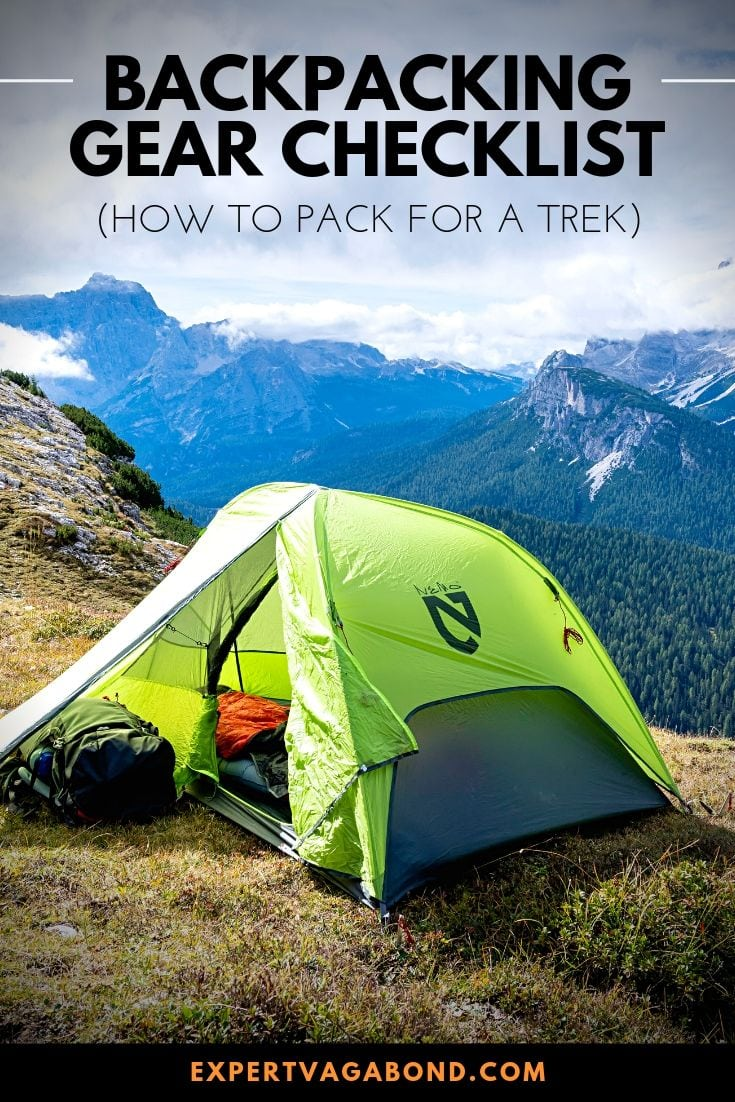 Learn how to pack for a successful overnight backpacking or trekking adventure with lightweight gear essentials like a tent, stove, clothing, and more. My ultimate backpacking checklist! #Hike #Trek #Backpack #adventure #Travel