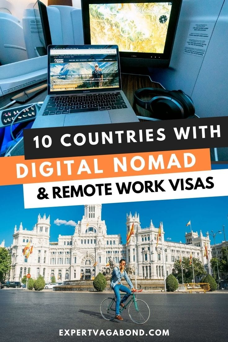 10 Countries With Digital Nomad & Remote Work Visas! Click here to find out more #DigitalNomad #WorkOnline #RemoteWork #Travel