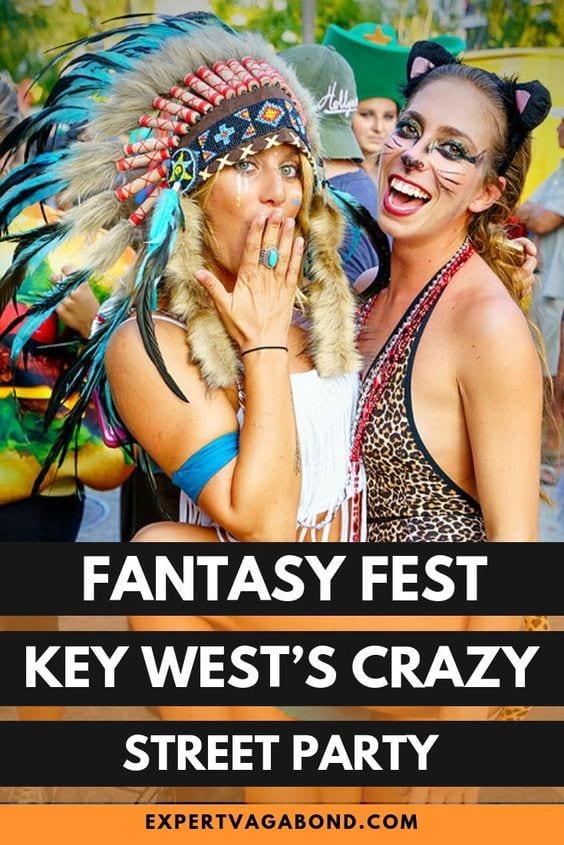 Fantasy Fest: Key West's Crazy Street Festival. More at ExpertVagabond.com