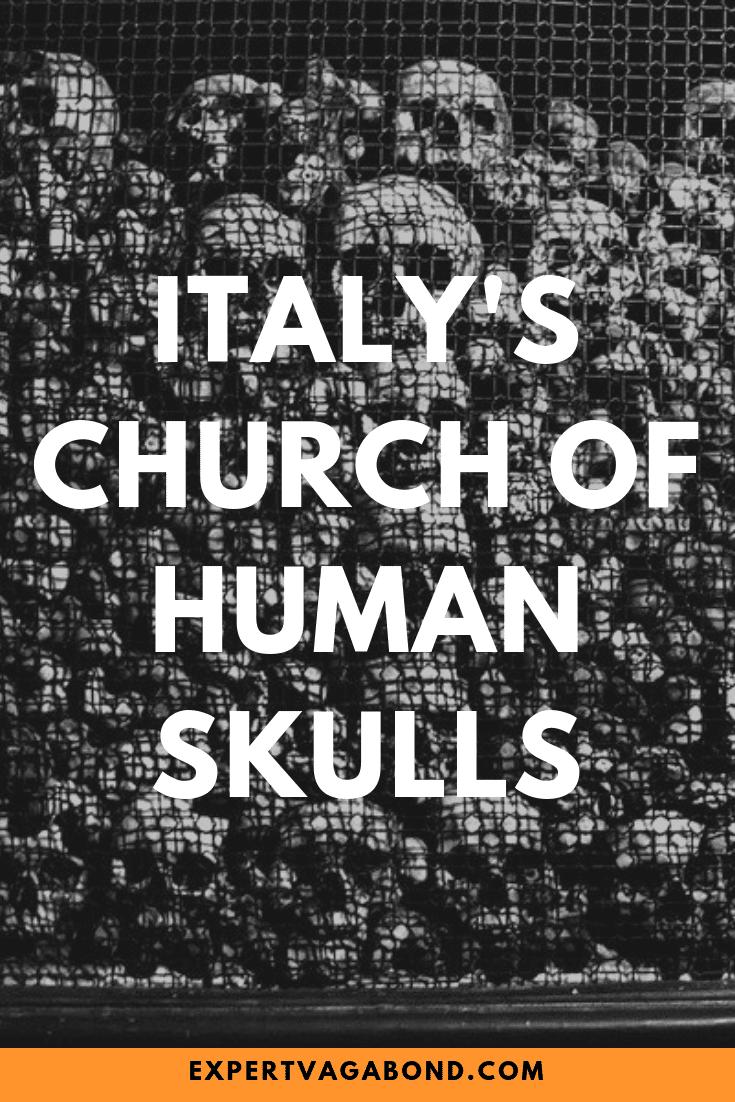 Milan's Bizarre Church Of Human Skulls! More at ExpertVagabond.com