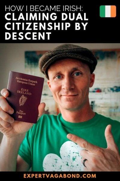 Claiming dual citizenship by descent. #Irish #Dualcitizen #Worldcitizen