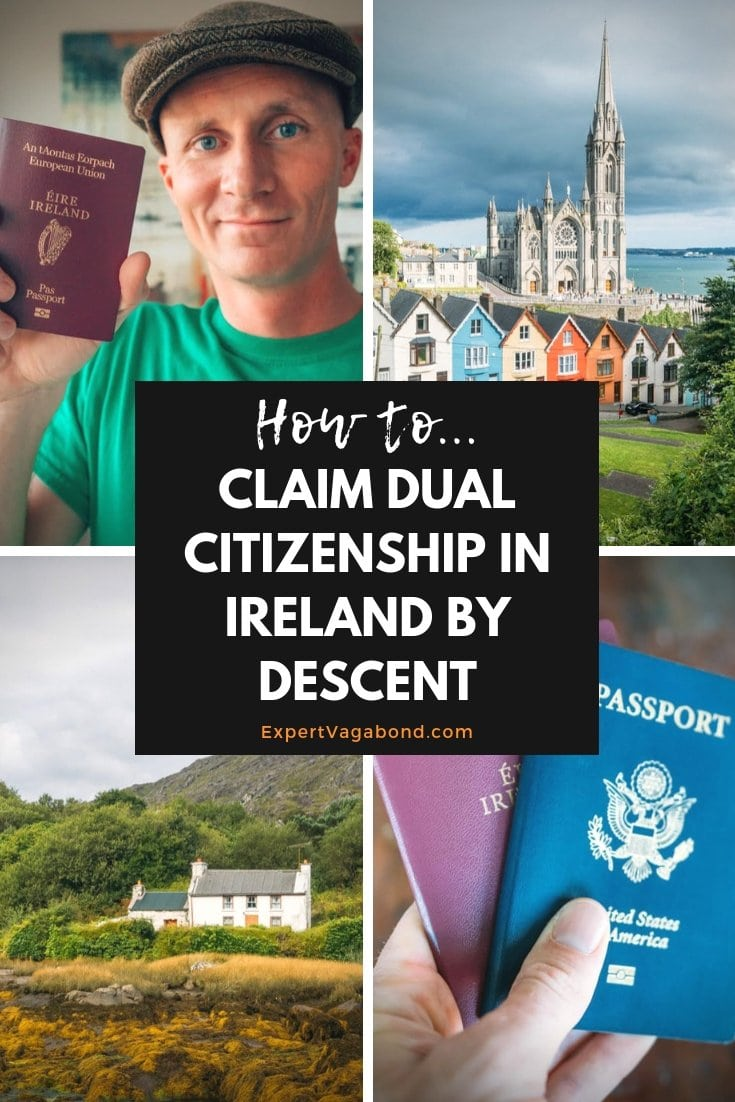 How I became Irish! Click here to find out how I claimed dual citizenship in Ireland by decent. More at ExpertVagabond.com