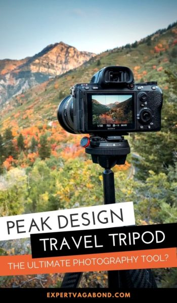Peak Design travel tripod Review. Discover the good and bad things about this tripod.  #Traveltripod #Tripodreview #Peakdesign