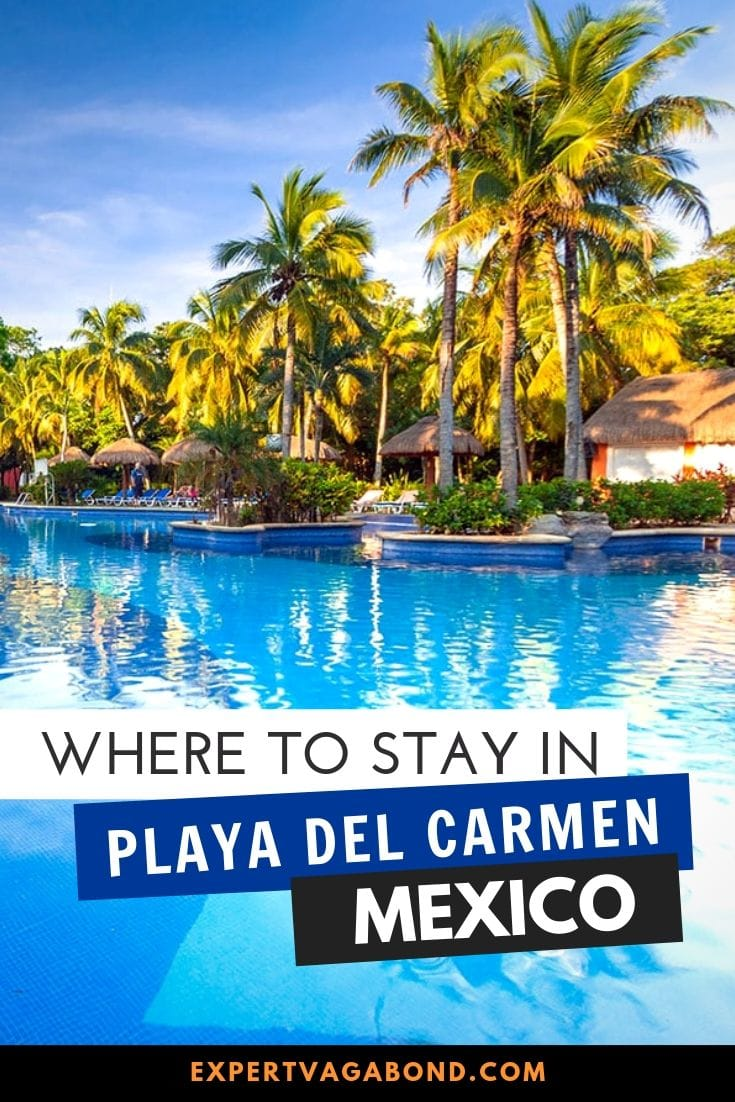 Where to stay in Playa Del Carmen! Plan your Mexico trip with my advice for the best places to stay in Playa del Carmen (hotels, budget hostels, and resorts) for each unique neighborhood around the city!