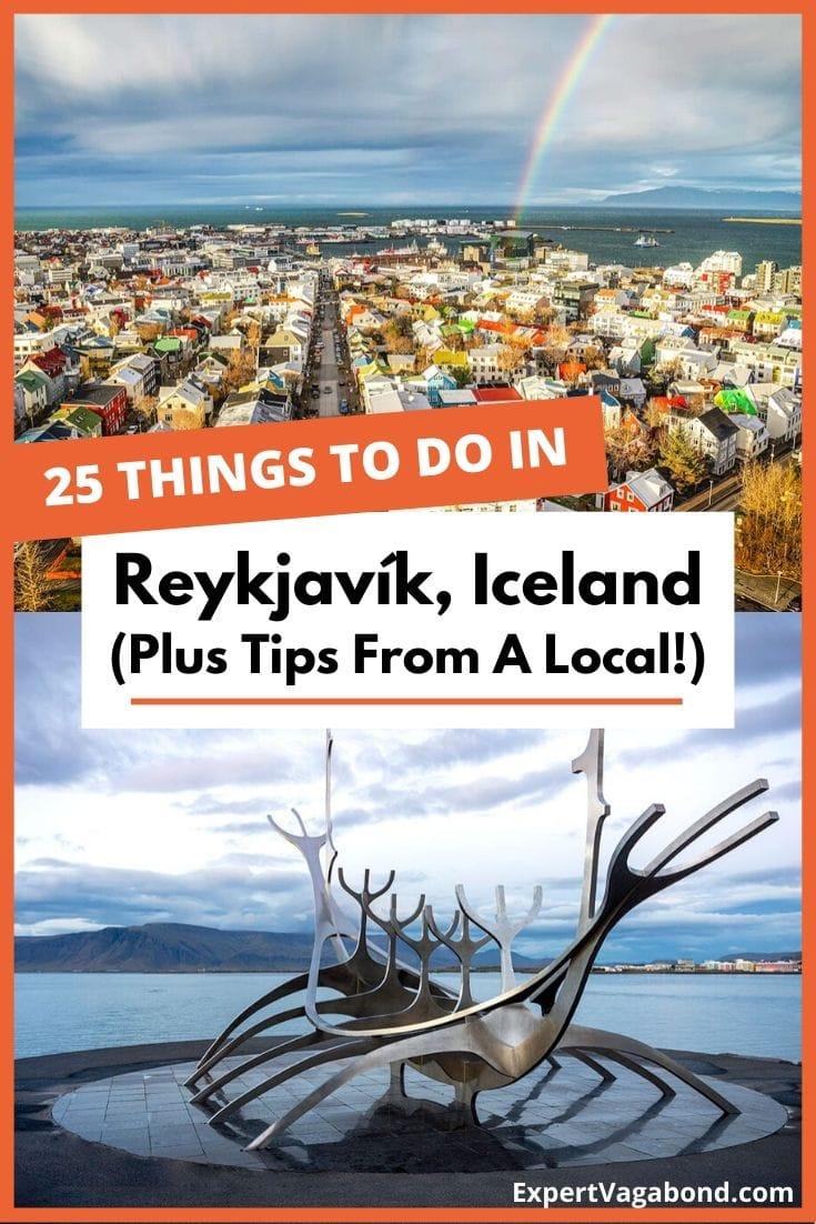 25 Fun Things To Do In Reykjavík Iceland (Plus Tips From A Local!). Click here to find out more #Iceland #Reykjavík #Europe #Travel