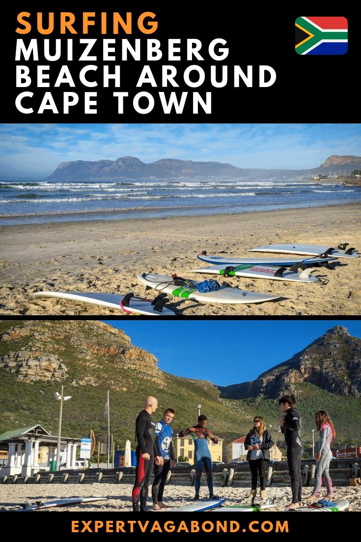 Surfing Muizenberg Beach Around Cape Town! More at ExpertVagabond.com