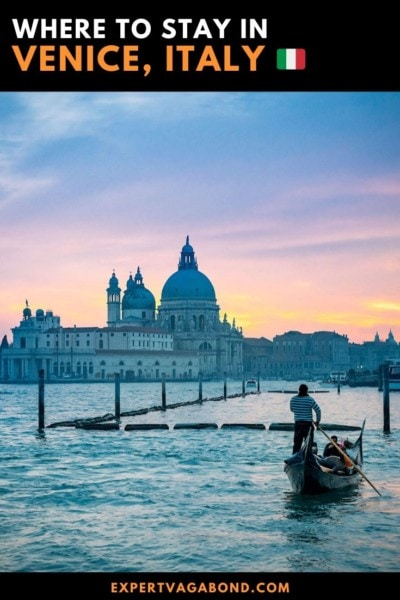 A guide to the best places to stay at in Venice Italy. #Venice #Italy #Hotels