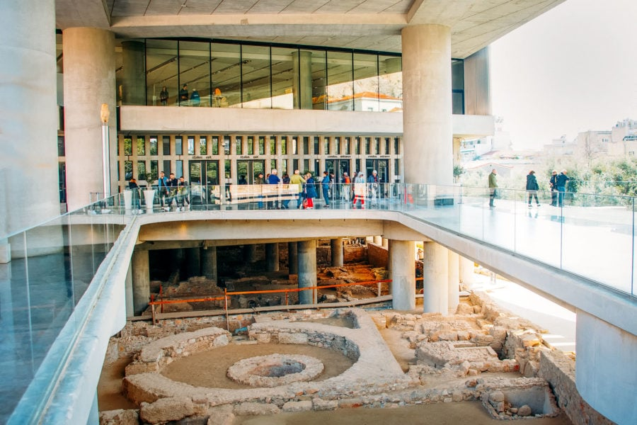 Inside the Acropolis Museum
