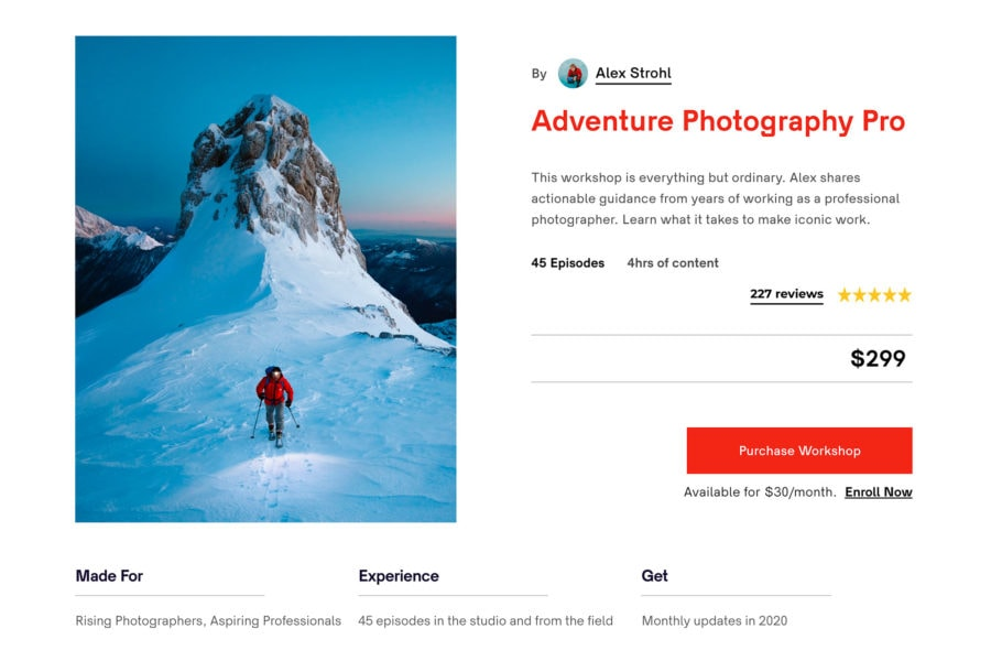 Adventure Photography Online Course