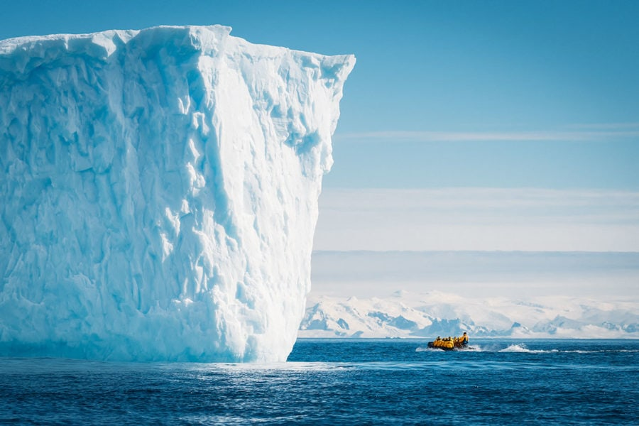 Antarctic Iceberg Cliff