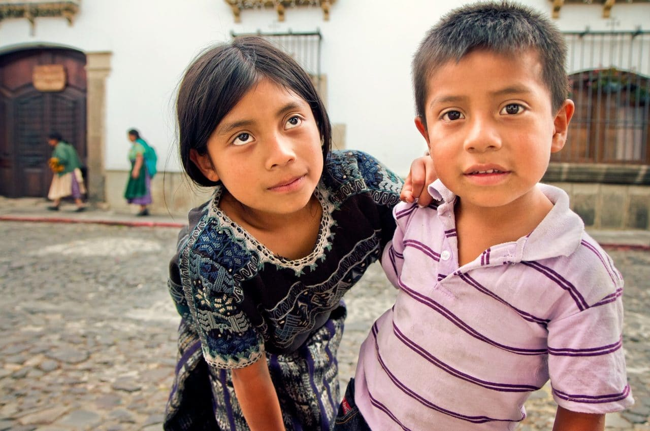 Local Kids in Antigua, Guatemala