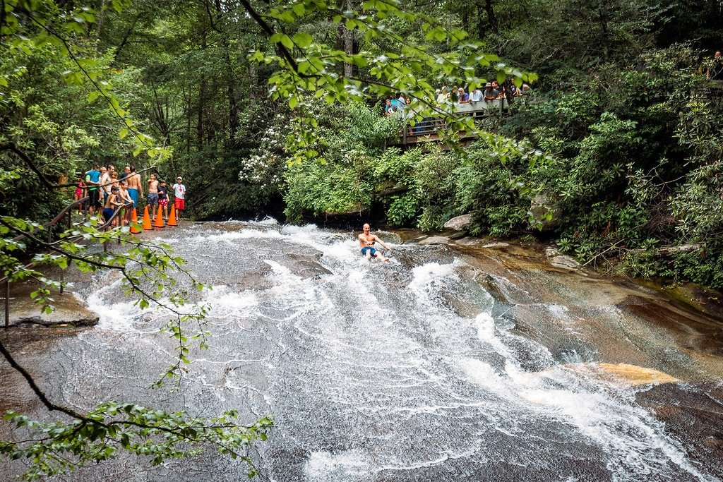 Sliding Rock Falls Pisgah Forest