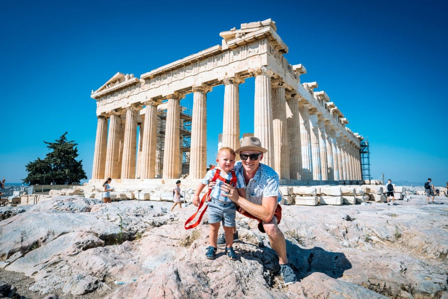 Father and Son at Parthenon