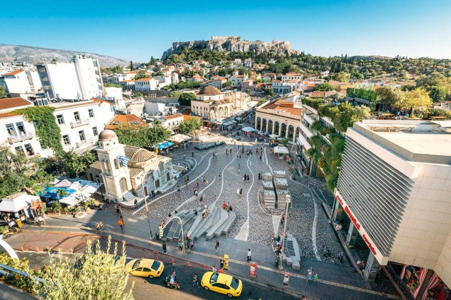 Monastiraki Square from Above