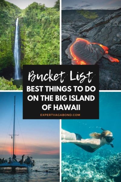 The big island in Hawaii has so many things to offer. Discover the best things to do here! #Hawaii #Bigisland #Thingstodo