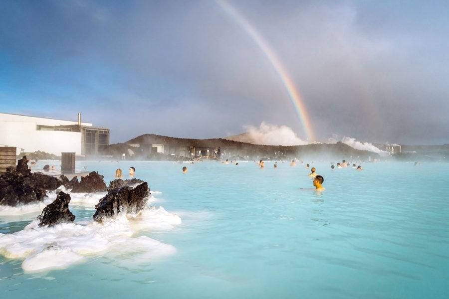 Rainbow at the Blue Lagoon
