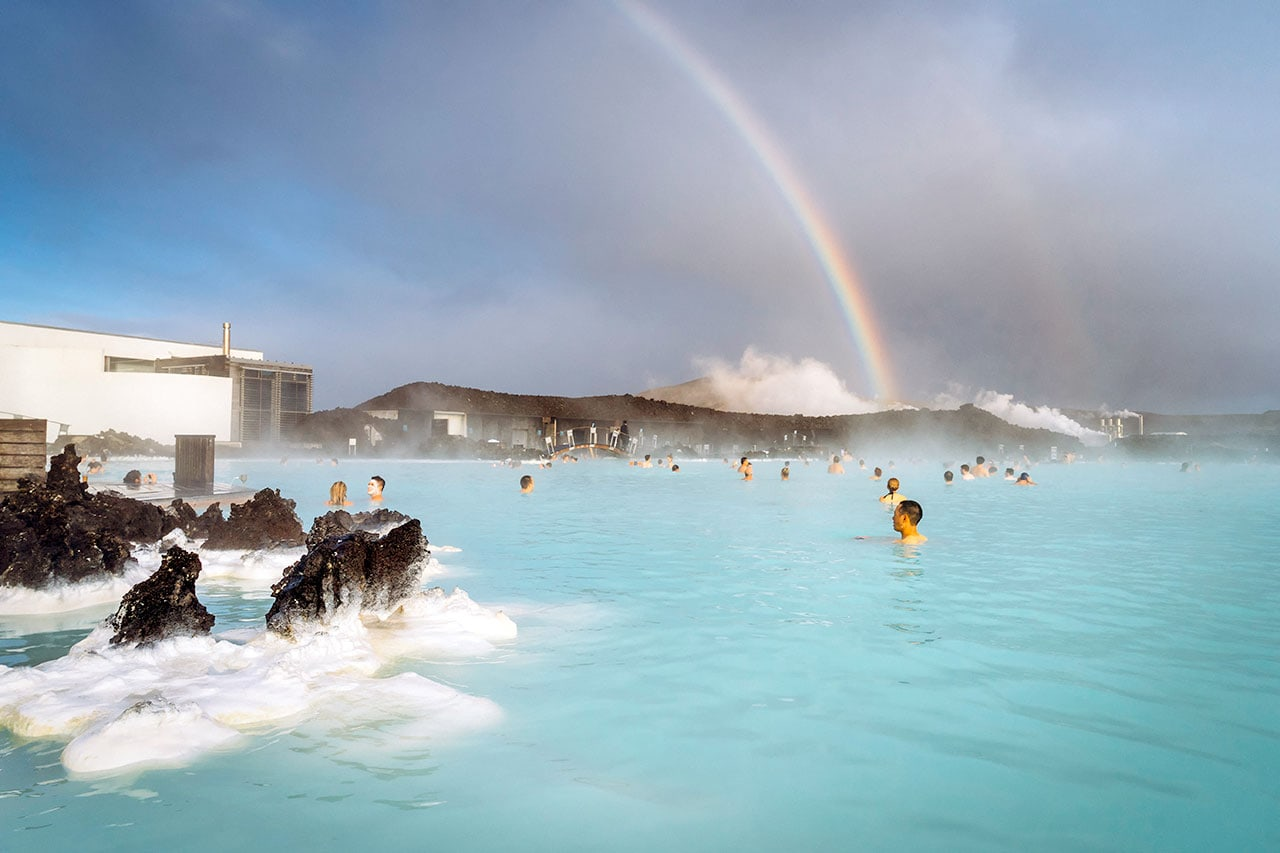 Rainbow at the Blue Lagoon