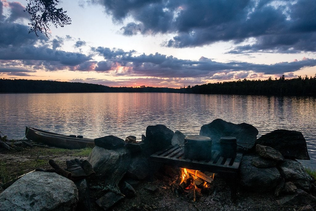 Boundary Waters Lake Sunset