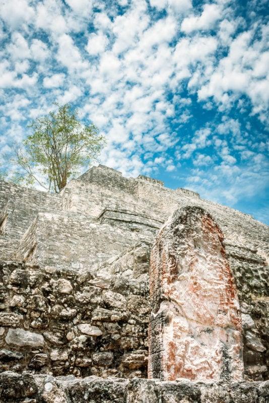 Mayan Stone Stelae