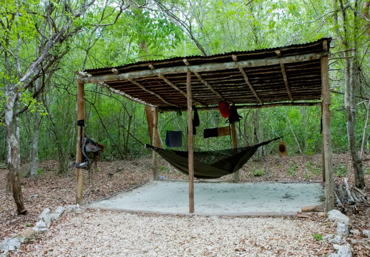 Camping in Calakmul