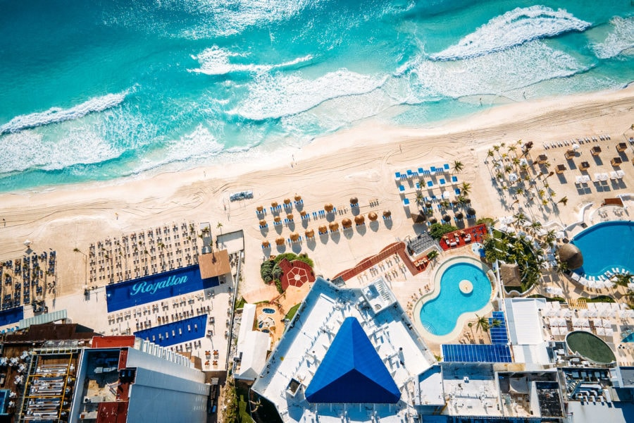 Cancun Beach View in Mexico