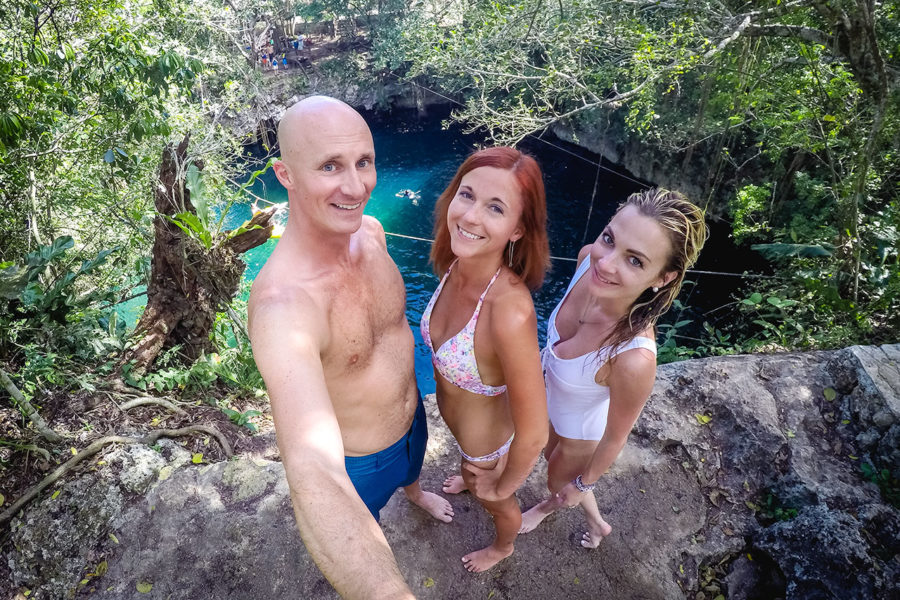 Swimming in Mexican Cenotes