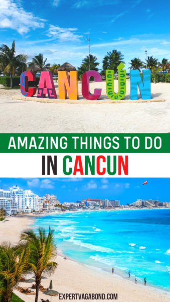 Fun things to do in Cancun, Mexico! Discover the best beaches, fun nightclubs, as well as unique cultural experiences. #Mexico #Travel #Cancun