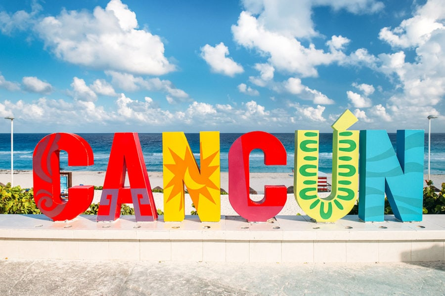 Colorful Cancun Sign