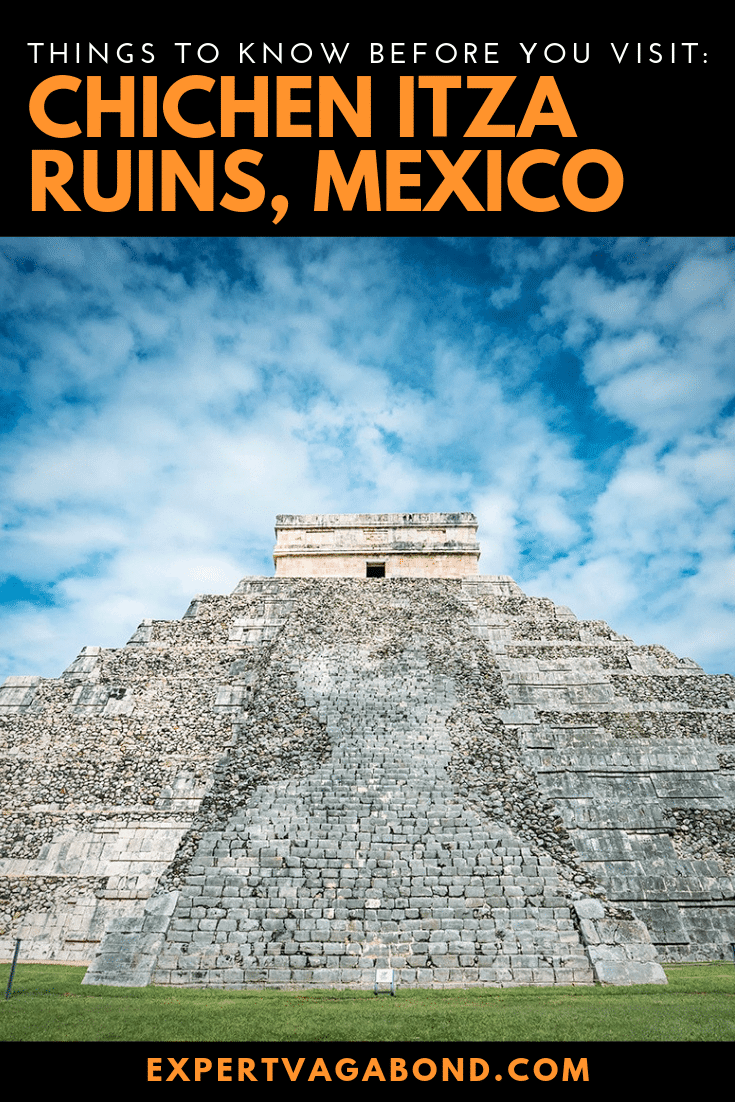 Here's everything you need to know before visiting Mexico's Chichen Itza archeological site! One of the 7 Wonders of the World. More at ExpertVagabond.com