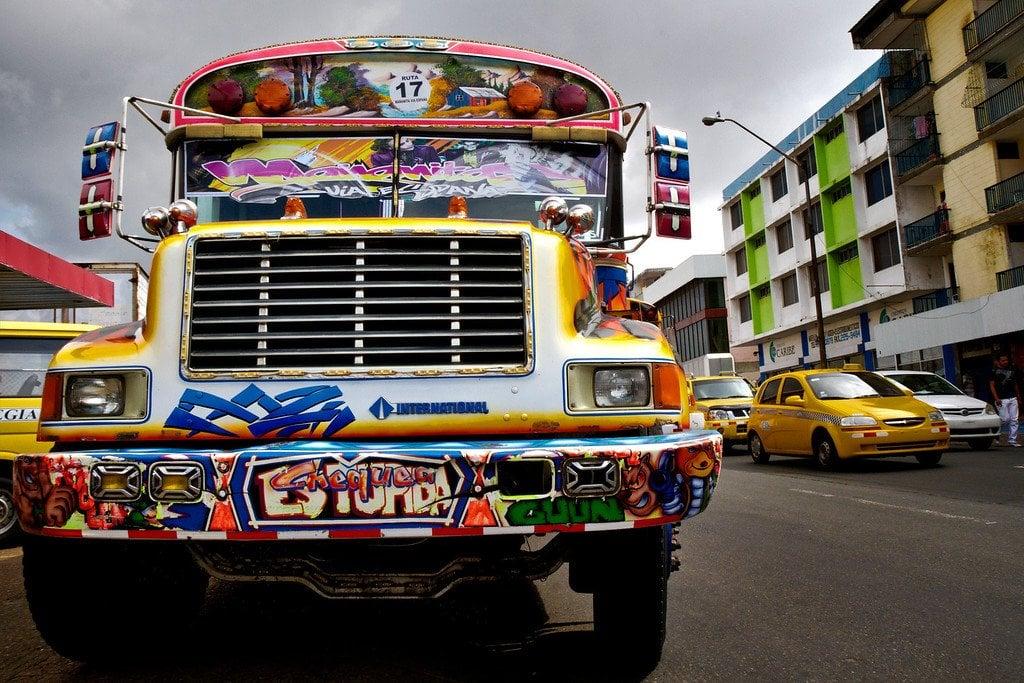 Panama City Diablo Rojo Bus