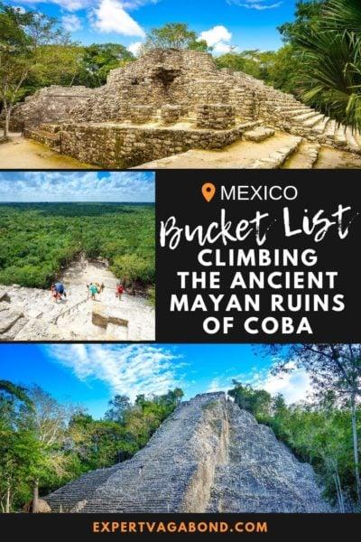Coba Ruins Guide: Climbing Ancient Pyramids In Mexico #Mexico #Coba #Pyramids