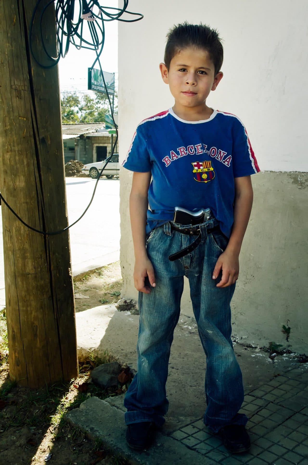 Comayagua Honduras Kid with Gun