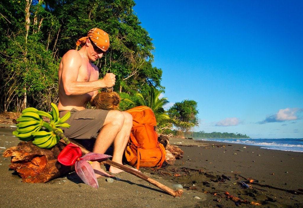 Beach in Corcovado Costa Rica