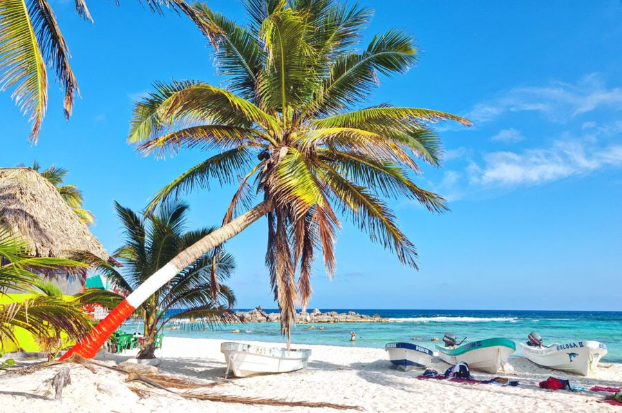 Beaches on Cozumel Island