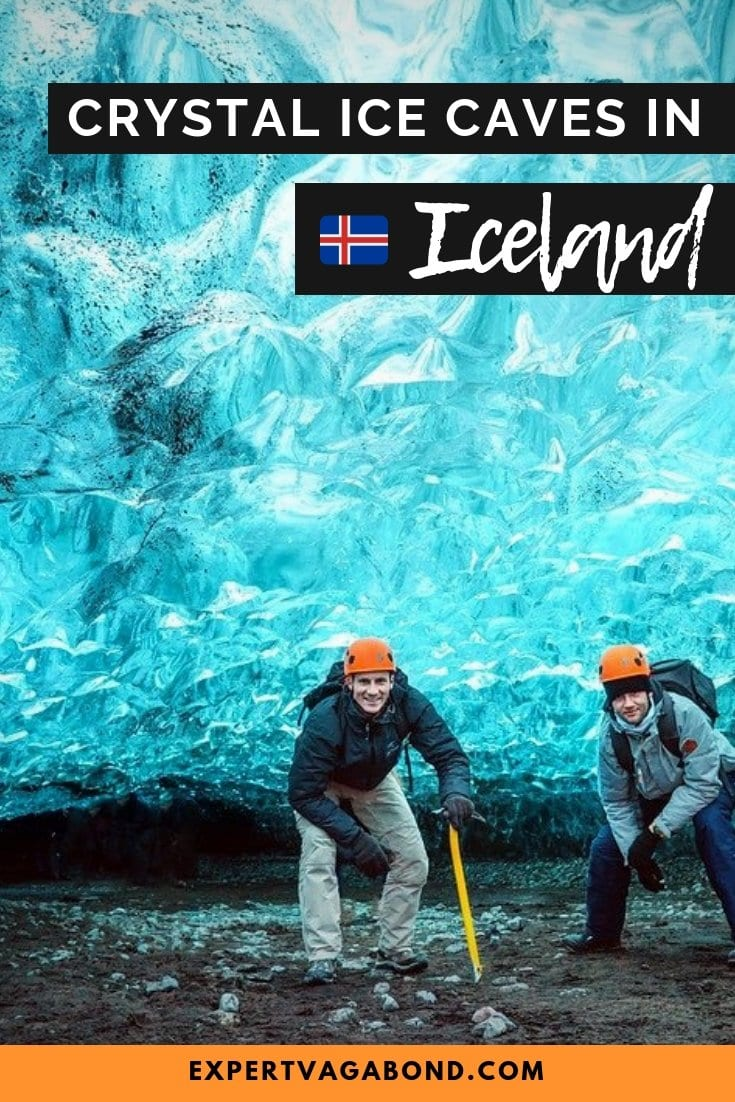 Visiting the crystal ice caves in Iceland. More at ExpertVagabond.com