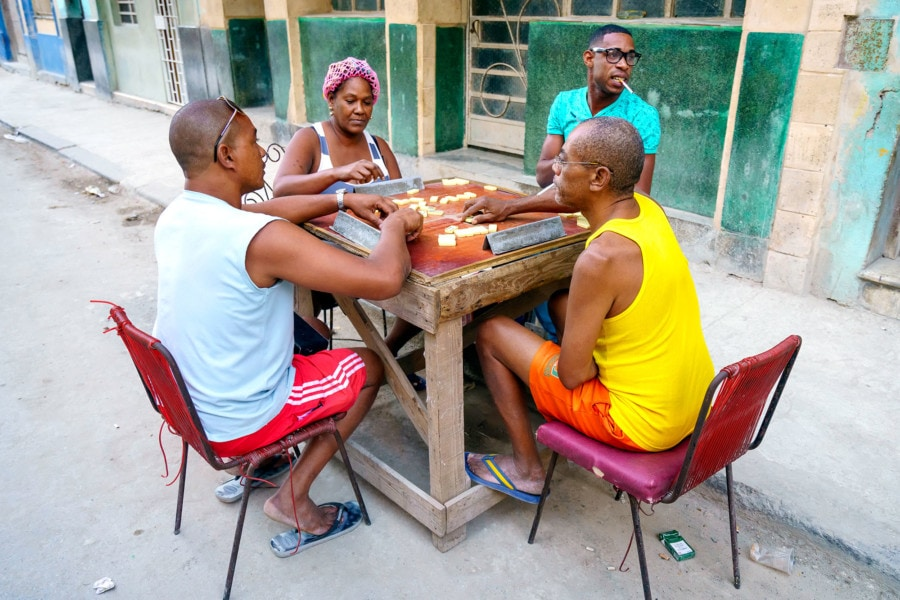 Cuban Locals playing Dominoes