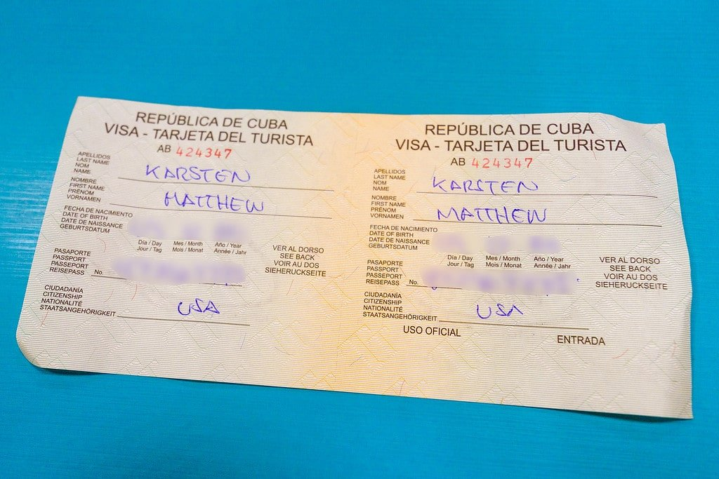 Cuban Visa for Americans