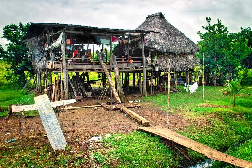 Darien Embera indian house