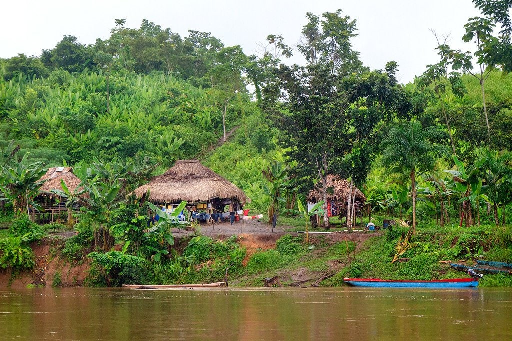 Indigenous Homes Darien Gap Panama