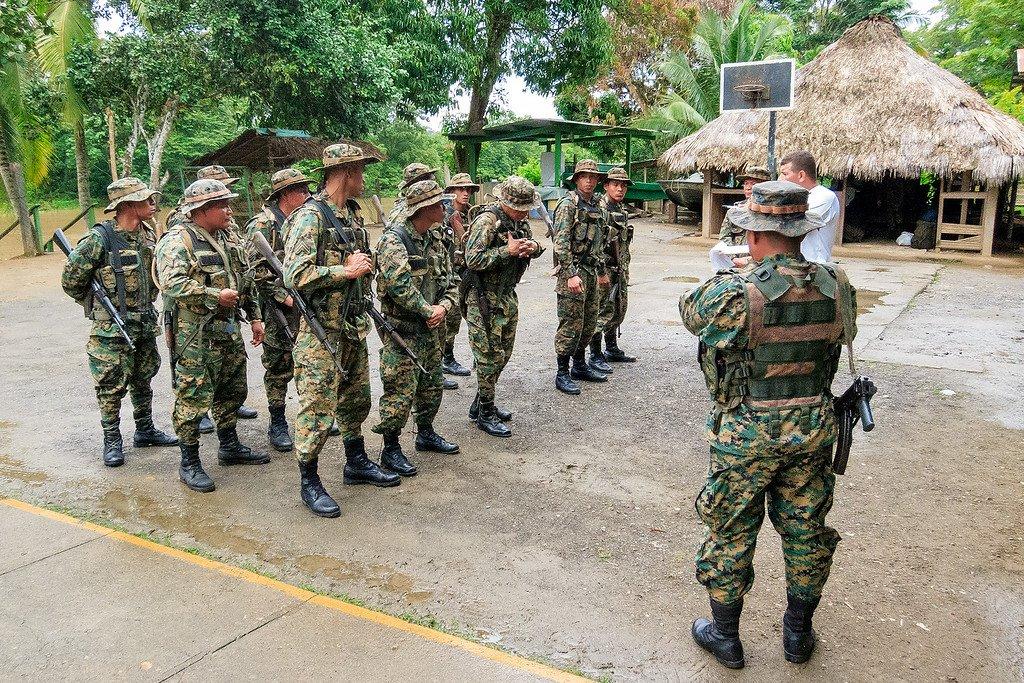 Senafront Soldiers Darien Gap Panama
