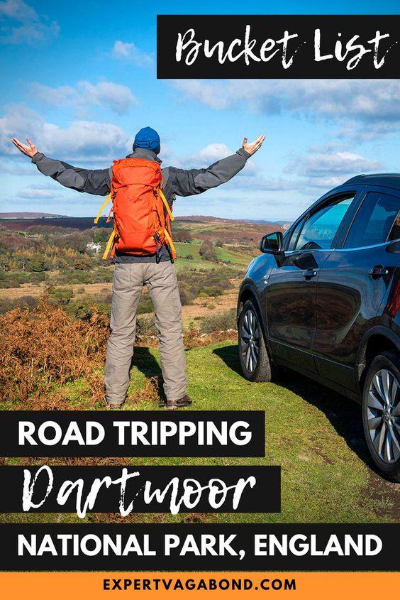 Dartmoor National Park road trip in the United Kingdom. More at ExpertVagabond.com