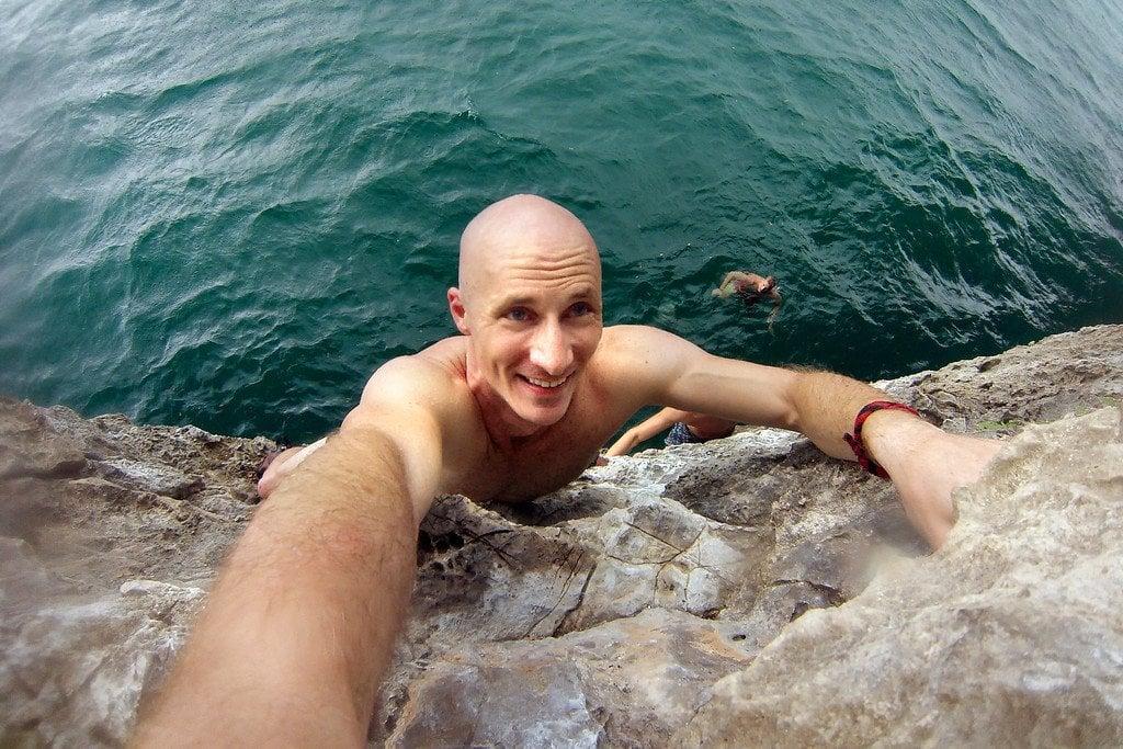 Deepwater Solo Climbing Thailand