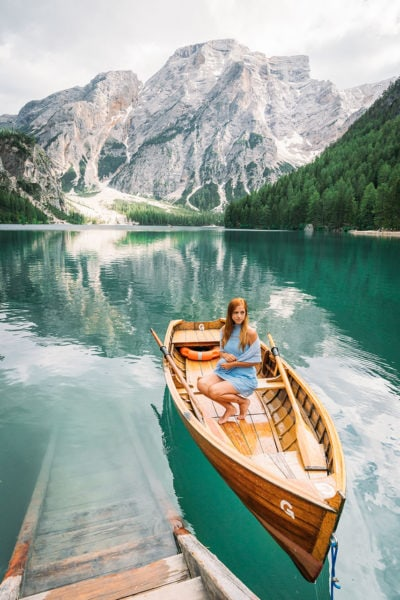 Green Lake in the Dolomites