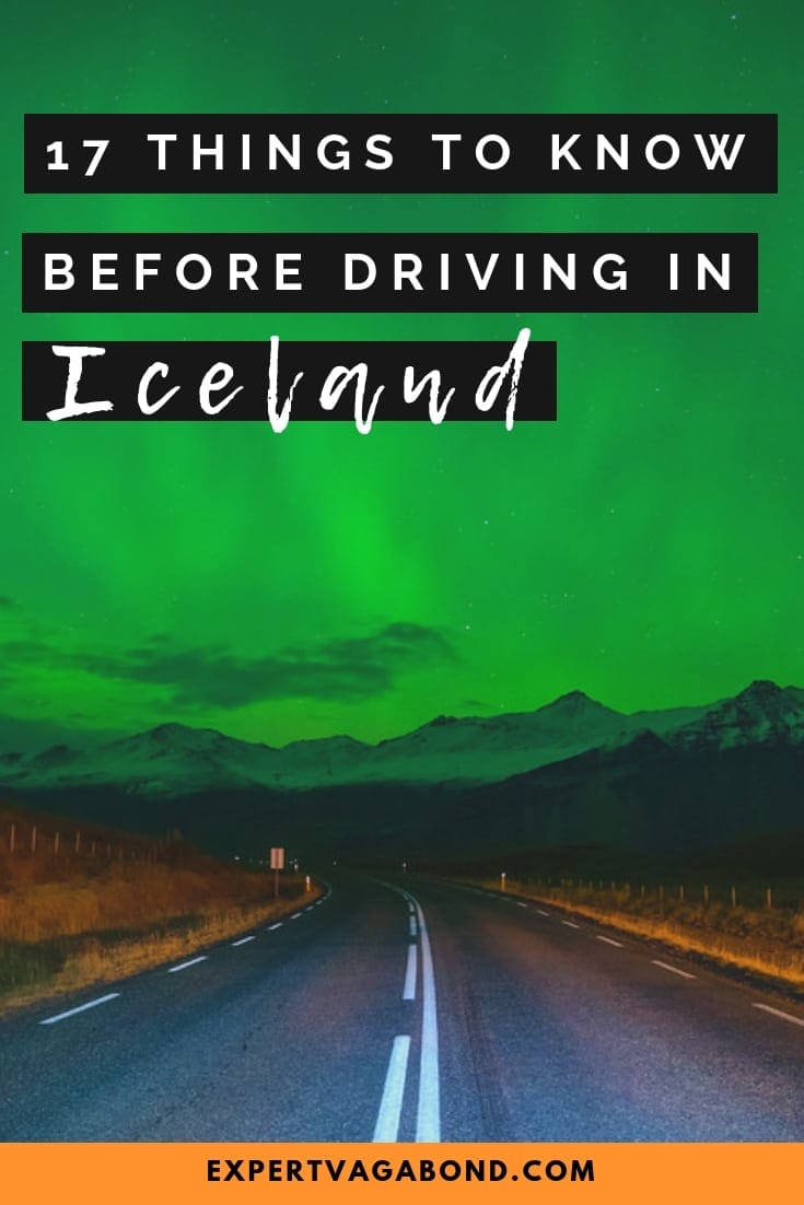 Important tips for driving in Iceland and renting a car. An essential road trip guide! More at ExpertVagabond.com
