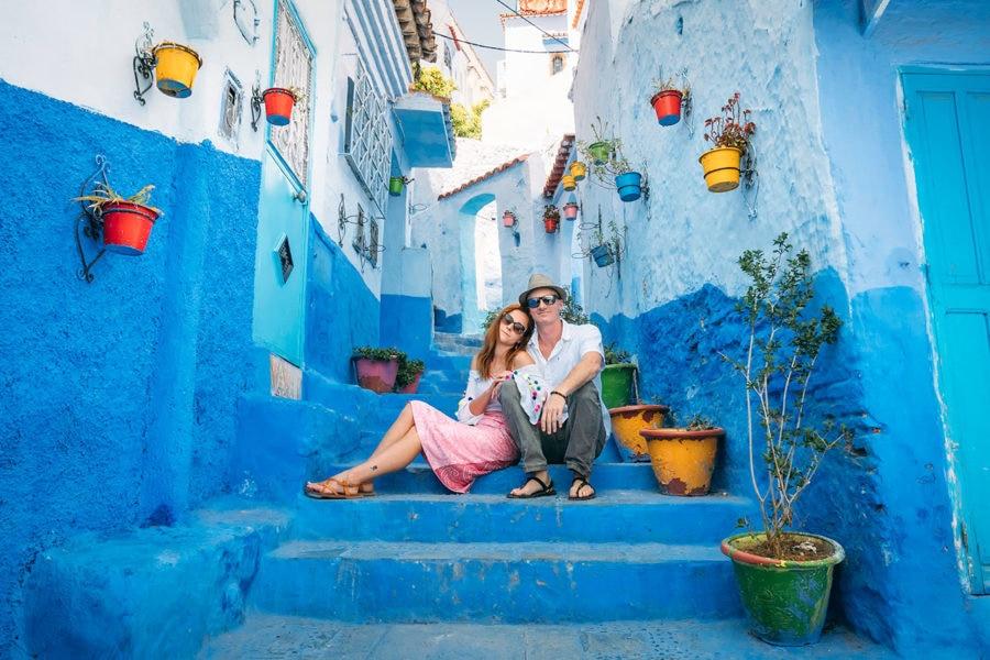 Matt & Anna in Morocco