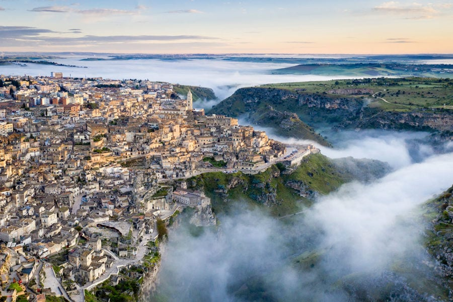 Sunrise Photo Over Matera, Italy
