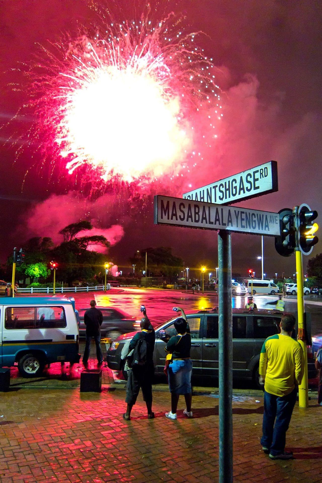 Football Fireworks Durban South Africa