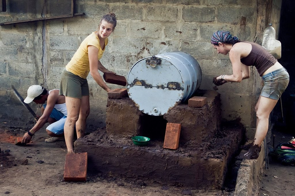 Nicaragua Building Brick Oven