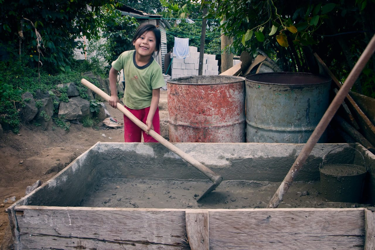 Girl Helps Build Home